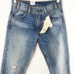 Levi's 505 C Jeans Cropped Distressed Denim Sz 26